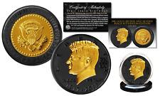 JFK 35th President 100th BDAY CELEBRATION Black Ruthenium & Gold Tribute Coin