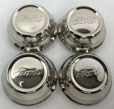 Set of (4) Stainless Steel Center Hubcaps For 1928-29 Ford Model A (Script)