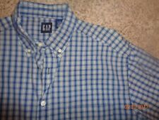 Men's long sleeve button-front shirt by GAP Size Large Blue