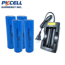4 x 18650 High Drain Vape Lithium Rechargeable Battery 2.2Ah 3.7V +18650 Charger