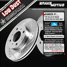 1993 - 2002 Chevy Prizm Toyota Corolla Prius FRONT DRILLED SLOTTED BRAKE ROTORS