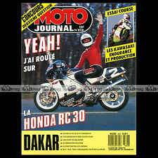 MOTO JOURNAL N°828 HONDA RVF 750 RC 30 BOL D'OR SUZUKI VAN-VAN PARIS DAKAR 1988