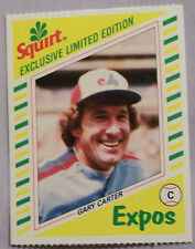 1982 SQUIRT GARY CARTER EXPOS LOT OF 2 CARDS