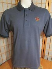 Mens King Louie Firemen Emblem Blue Polo Shirt Shirts Large