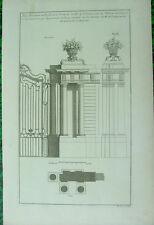 MARIETTE. CHATEAU du VAL Yvelines, Porte grilles, originale XVIII s.