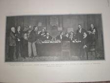 Never Again ex president Kruger receives a Boer Deputation Pretoria 1901 print