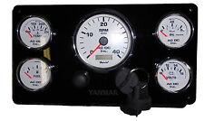 5 Gauges, Engine Instrument Panel, Yanmar, Diesel, Marine