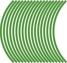 9mm wheel rim tape striping stripes stickers L GREEN..(38 pieces/9 per wheel)