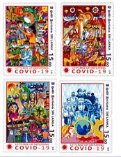 Sri Lanka Stamps Global Virus 19 Pandemic 2020 Stamp Set
