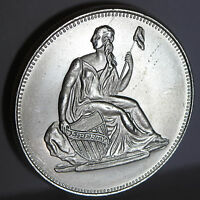 SEATED LIBERTY GOBRECHT FROSTED COMMEMORATIVE .999 FINE SILVER 1 TROY OZ ROUND
