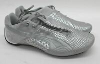 PUMA Ladies Silver Future Cat Low Limited Edition Leather Trainers UK7 EU40.5