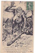 Guerre 14-18 caricature satirique  anti kaiser REGAMEY BETE HORRIBLE