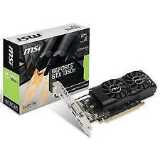 MSI NVIDIA GeForce GTX 1050Ti 4GB GDDR5 Low Profile Graphics Card.