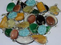 Larimar & Mix Gemstone 925 sterling silver overlay New  lot pendants 20pcs