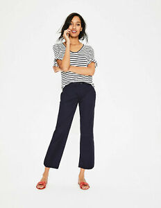 Boden Damen Sommer Hose  - Helena Cropped Chino Pants - Navy  16L 42