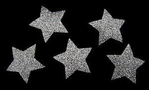 5PCS 4cm STARS GLITTER IRON ON HOTFIX T SHIRT TRANSFER Dance, Gymnastic
