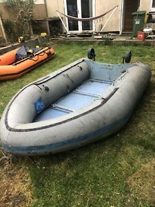INFLATABLE RIB DINGHY BOAT PLANING HULL ROW OR OUTBOARD INFLATABLE KEEL 5 MAN