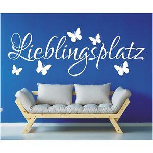 Wandtattoo Spruch Lieblingsplatz Sticker Tattoo Wandsticker Wandaufkleber 3