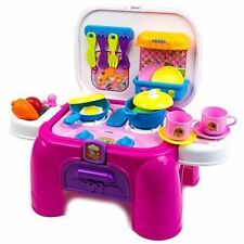 Kitchen  Desk Playset kids toy portable case pretend play  TOY CHEF pink NEW