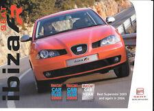 "SEAT IBIZA 1.8 20 V TFR e I 1.9 TDI FR SALES BROCHURE """" / tavole per il 2004"