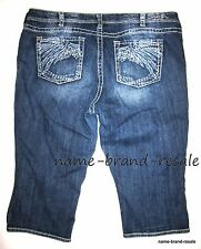 TORRID SILVER Jeans TUESDAY CROP Capris Womens PLUS 24 3X RIPS DISTRESSED
