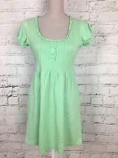 PAPAYA - Green Short Sleeve Round Neck Tie Waist Dress - Womens - Size 10