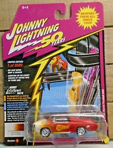 JOHNNY LIGHTNING 50 YRS GEORGE BARRIS FIREBALL 500 1:64 DIE CAST CAR 1 OF 3500 !