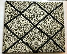 """Fabric French Memo Photo Hanging Board Black and White 21"""" x 18"""""""
