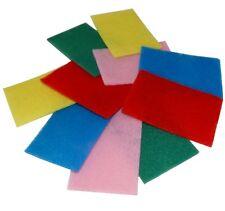 Lot de 10 tampons de récurage 15/10cm éponge à récurer cuisine vaisselle couleur