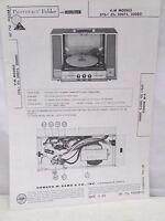 Vintage Sams Photofact Folder Radio Parts Manual V-M 370-1 (Ch. 20075, 20080)