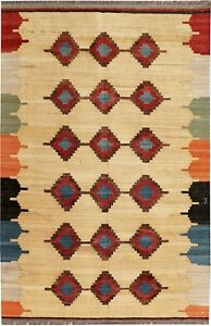Handmade Modern  Kilim Vintage Rugs  For Living Room 200 cm x 135 cm