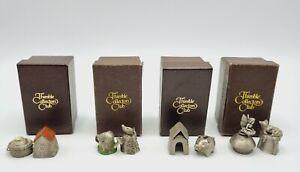 Thimbles Collectors Club Set of 8 Pewter Thimbles Vintage BOXED