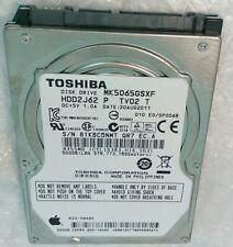 "500GB MK5065GSXF TOSHIBA APPLE 655-1646 hard disc drive 9.5mm SATA 2.5"""