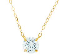 "Diamonique 1 cttw. Necklace 14K Solid Yellow Gold 18"" - QVC $100"