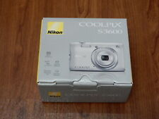 New in Open Box - Nikon Coolpix S3600 20.1 MP Camera - SILVER - 018208264513