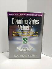 New Matthew Ferry Creating Sales Velocity Seminar Series 6 Cd Set Sealed!