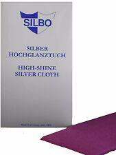 Silbo Silber Hochglanztuch mit Anlaufschutz für Silberschmuck Silber