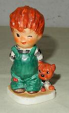 Junge mit Hund Porzellan Figur Goebel Oeslau 1957