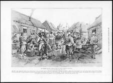 1899 Antique Print - CHINA Kiao-Chau Tsingtau Main Street Germans Market  (339)