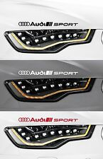 For Audi - 2 x AUDI SPORT  HEADLIGHT - VINYL CAR DECAL STICKER   - TT 300mm long