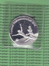 Silbermedaille Fussball Weltmeisterschaft München 1974-Die Welt trifft sich(M380