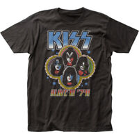 KISS Alive in '79 T Shirt Mens Licensed Rock N Roll Music Band Retro Tee Black