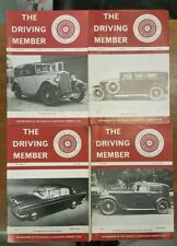 The Driving Member, Daimler & Lanchester Club Mag. 4 issues Volume 23-24, 1987