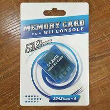 Gamecube Memory Card Wii Memory Card 128 MB / 512 MB
