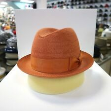 BILTMORE GENUINE MILAN RUST STINGY BRIM DRESS HAT 1822882230fc