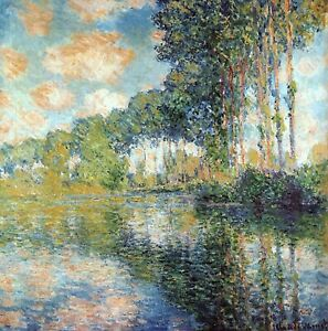 Poplars on the Epte by Claude Monet Giclee Fine ArtPrint Reproduction on Canvas