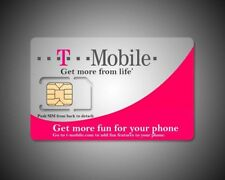 T Mobile Standered Micro/Nano 4G Lte Preloaded Plan 50$ x2 Months Included