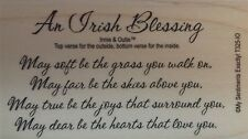 NEW MSE! My Sentiments Exactly! Mounted Wood Rubber Stamp T325 Irish Blessing