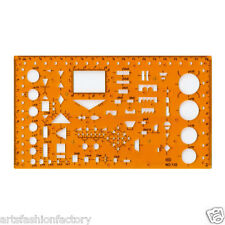 Electronic Symbols Template Flexible Unbreakable Plastic Drafting Templates
