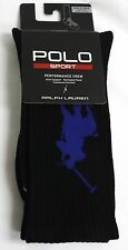 Polo Ralph Lauren socks Crew Black Blue Polo Sport Performance Crew Thermo Vent